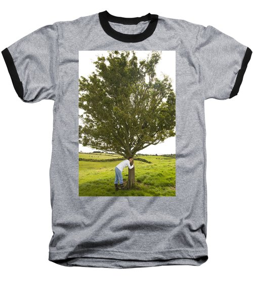Baseball T-Shirt featuring the photograph Hugging The Fairy Tree In Ireland by Ian Middleton