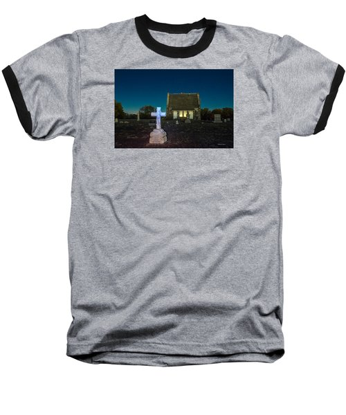 Baseball T-Shirt featuring the photograph Hughes Children At Riverside Cemetery by Stephen  Johnson
