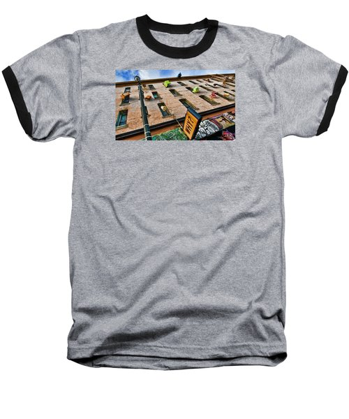 Baseball T-Shirt featuring the photograph Hugo Hotel  by Steve Siri