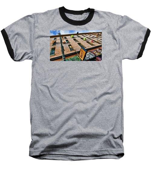 Hugo Hotel  Baseball T-Shirt by Steve Siri