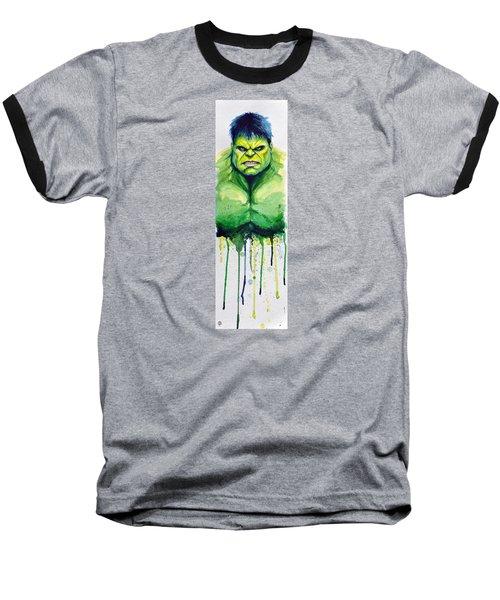 Hulk Baseball T-Shirt by David Kraig