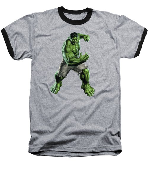 Baseball T-Shirt featuring the mixed media Hulk Splash Super Hero Series by Movie Poster Prints