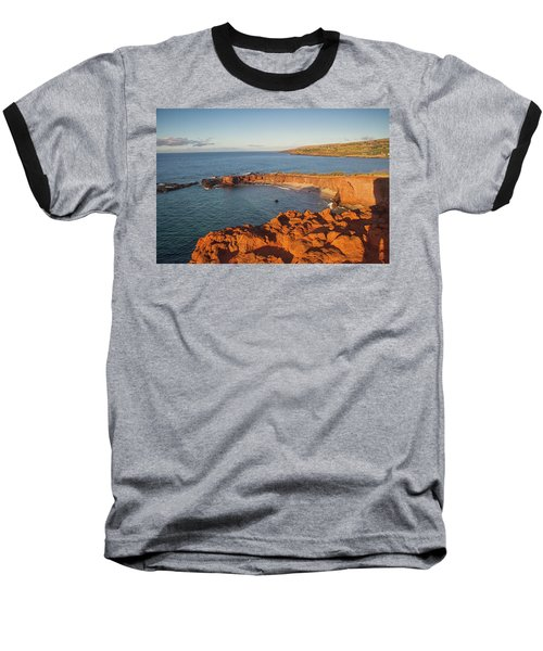Hulopoe Beach Sunrise Baseball T-Shirt