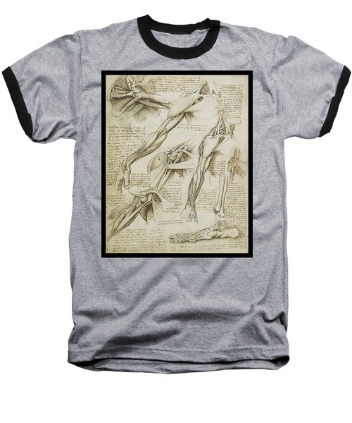 Baseball T-Shirt featuring the painting Human Arm Study by James Christopher Hill