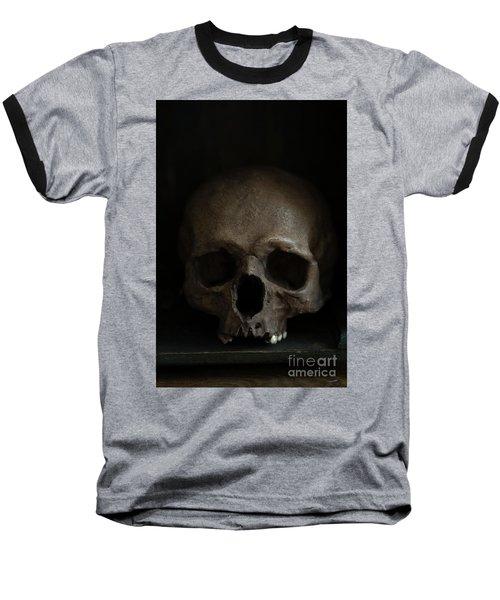 Human Skull Baseball T-Shirt