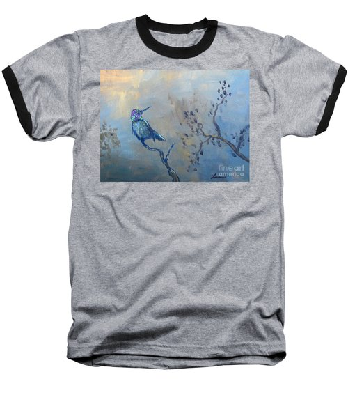 Baseball T-Shirt featuring the painting Humming Bird by Laurianna Taylor