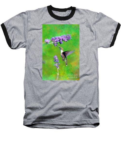 Humming Bird Visit Baseball T-Shirt