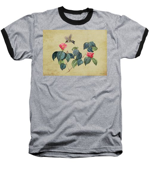 Hummingbird And Japanese Camillea Baseball T-Shirt