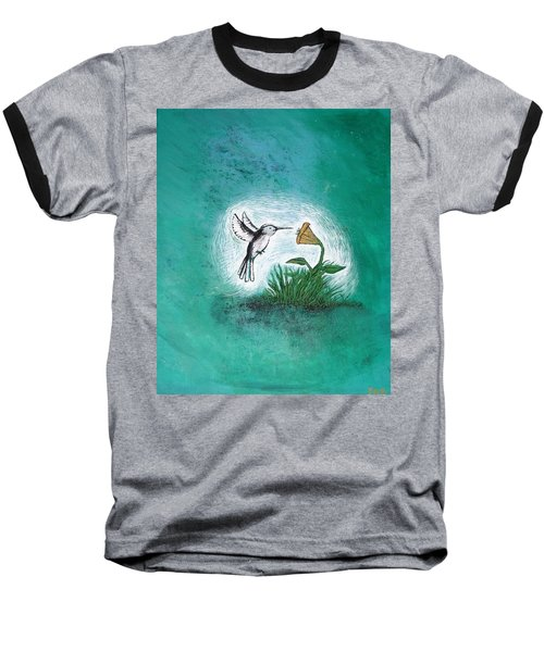 Baseball T-Shirt featuring the painting Hummingbird by Antonio Romero