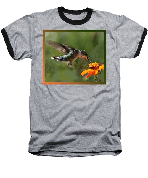 Hummingbird Art Baseball T-Shirt