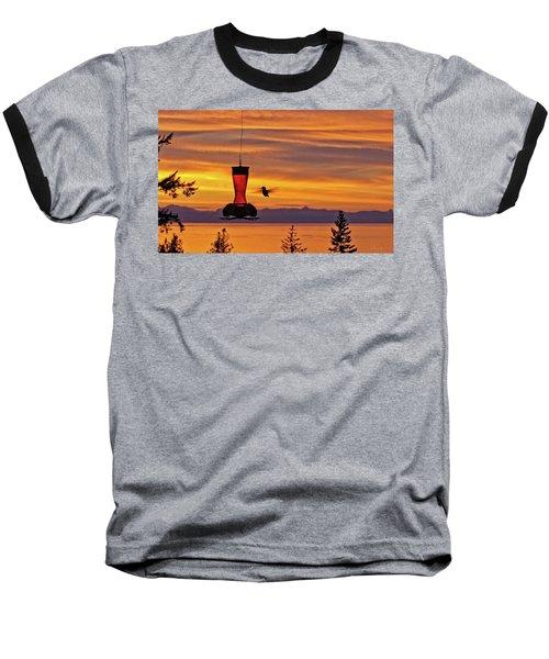 Hummingbird At Sunset. Baseball T-Shirt