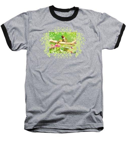 Hummingbird Attitude T - Shirt Designe Baseball T-Shirt by Debbie Portwood