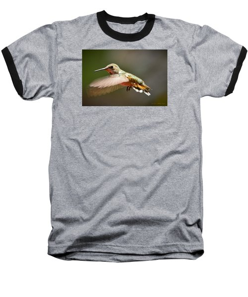 Hummingbird Facing Left Baseball T-Shirt