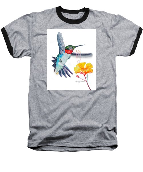 Da169 Hummingbird Flittering Daniel Adams Baseball T-Shirt
