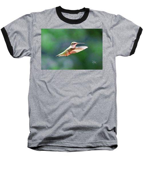 Baseball T-Shirt featuring the photograph Hummingbird Flying by Meta Gatschenberger