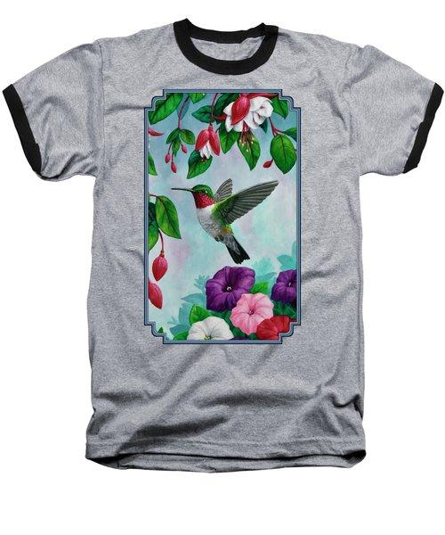 Hummingbird Greeting Card 1 Baseball T-Shirt by Crista Forest