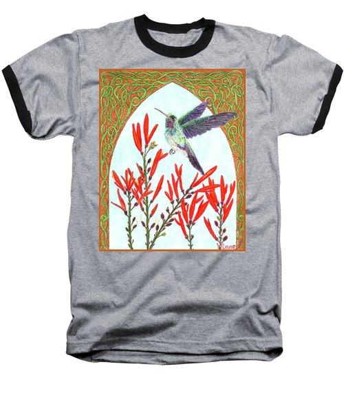 Hummingbird In Opening Baseball T-Shirt