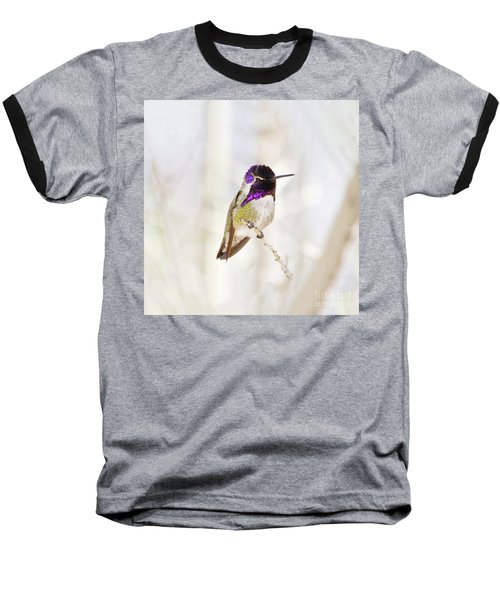 Baseball T-Shirt featuring the photograph Hummingbird Larger Background by Rebecca Margraf