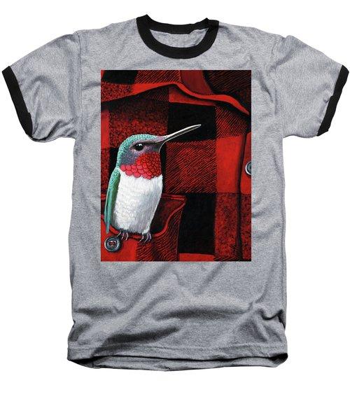 Hummingbird Memories Baseball T-Shirt by Linda Apple