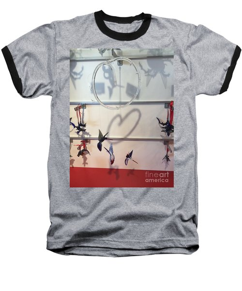 Hummingbird Shadows Baseball T-Shirt