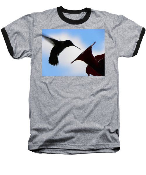 Baseball T-Shirt featuring the photograph Hummingbird Silhouette by Sandi OReilly