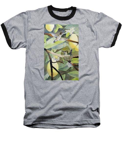 Hummingbirds And Lemons Baseball T-Shirt