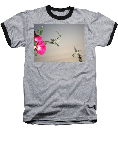 Baseball T-Shirt featuring the photograph Hummingbirds Coming And Going by Joyce Dickens