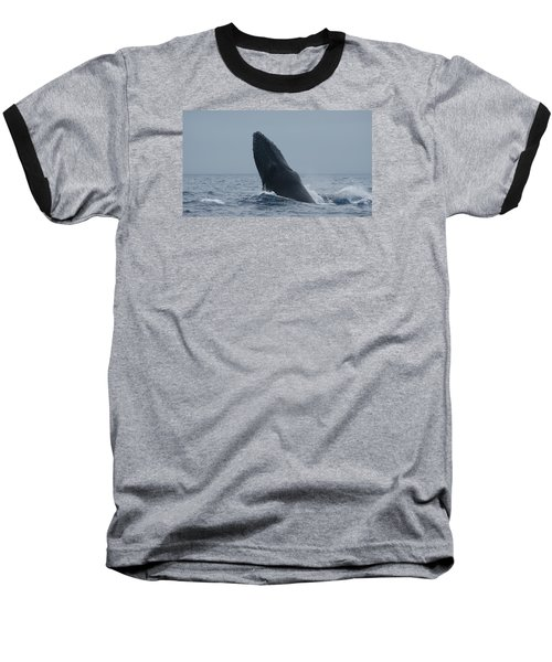 Baseball T-Shirt featuring the photograph Humpback Whale Breaching by Gary Crockett