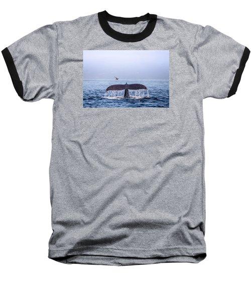 Humpback Whale Flukes Baseball T-Shirt