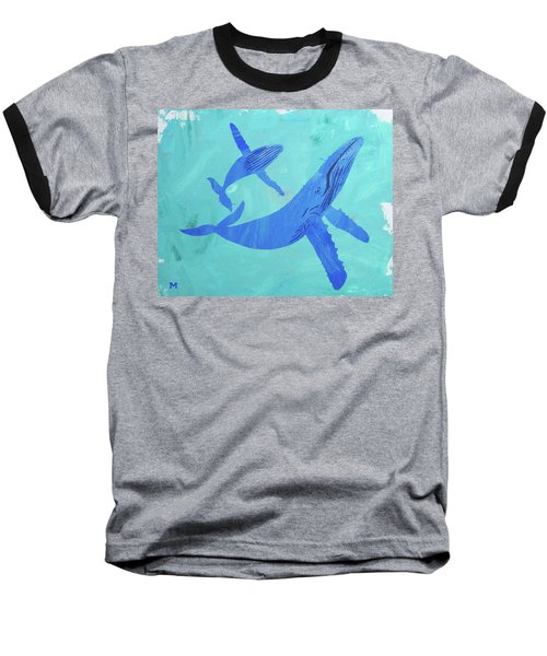 Humpback Whales Baseball T-Shirt
