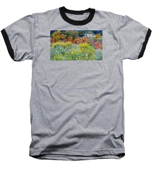 Hundred Hearts Baseball T-Shirt by David Norman