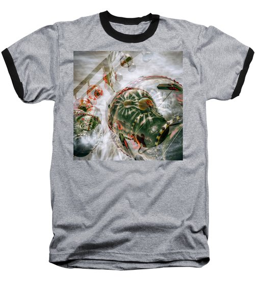 Baseball T-Shirt featuring the photograph Hung Up And Strung Out by Wayne Sherriff