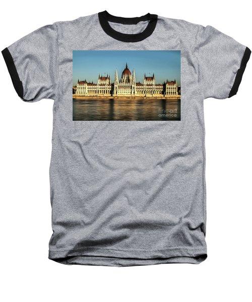 Hungarian National Parliament Baseball T-Shirt