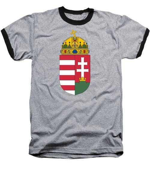 Baseball T-Shirt featuring the drawing Hungary Coat Of Arms by Movie Poster Prints