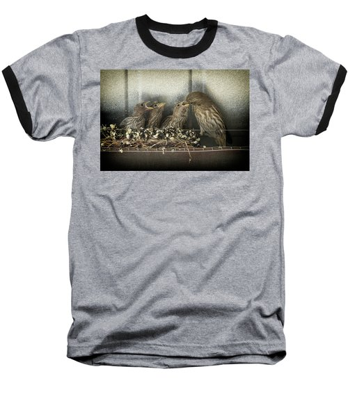 Baseball T-Shirt featuring the photograph Hungry Chicks by Alan Toepfer