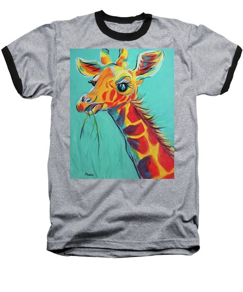 Hungry Giraffe Baseball T-Shirt