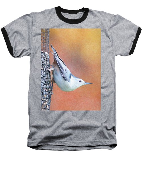 Hungry Nuthatch Baseball T-Shirt