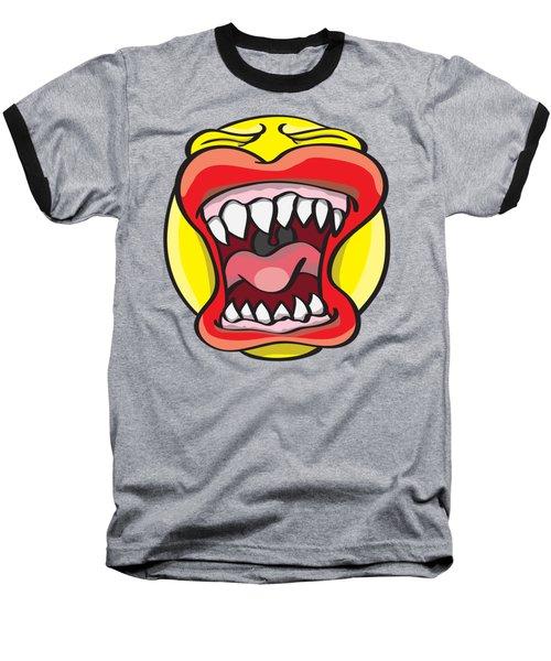 Hungry Pacman Baseball T-Shirt