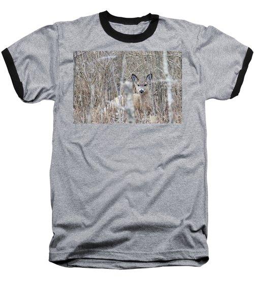 Hunkered Down Baseball T-Shirt