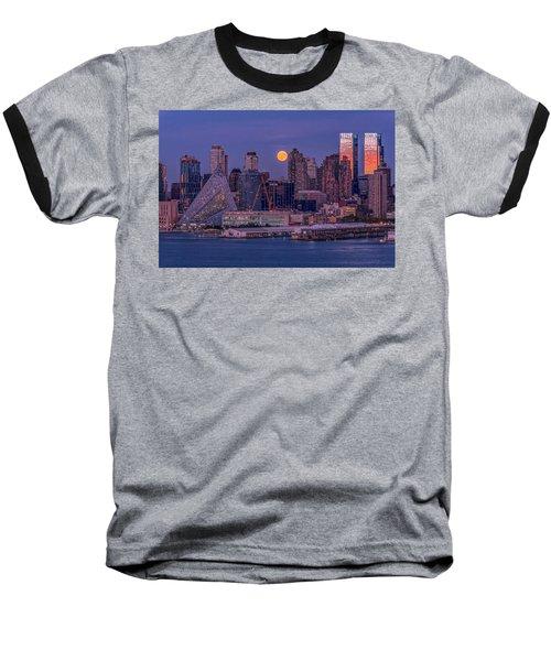 Hunter's Moon Over Ny Baseball T-Shirt