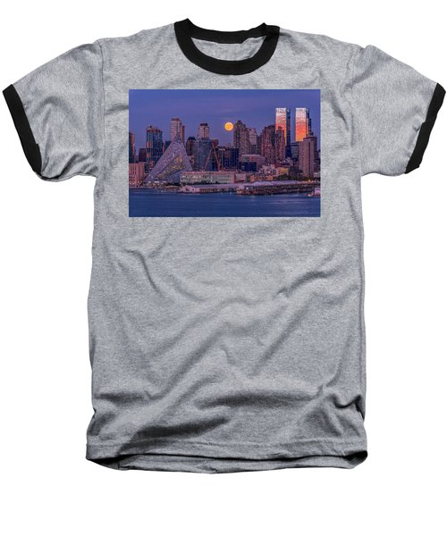 Hunter's Moon Over Ny Baseball T-Shirt