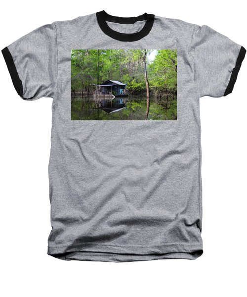 Hunting And Fishing Cabin Baseball T-Shirt