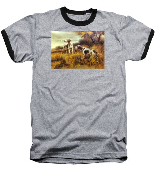 Baseball T-Shirt featuring the digital art Hunting Dogs No1 by Charmaine Zoe