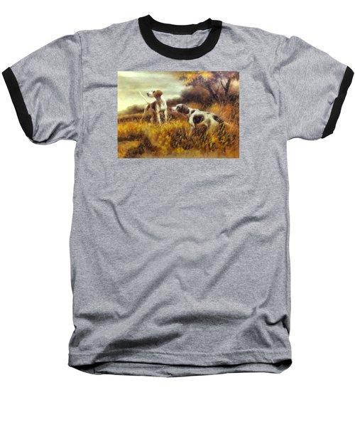 Hunting Dogs No1 Baseball T-Shirt by Charmaine Zoe