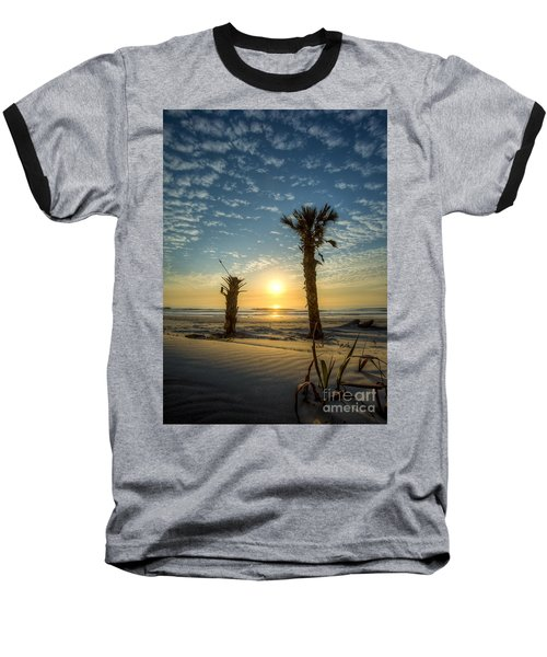 Hunting Island State Park Beach Sunrise Baseball T-Shirt