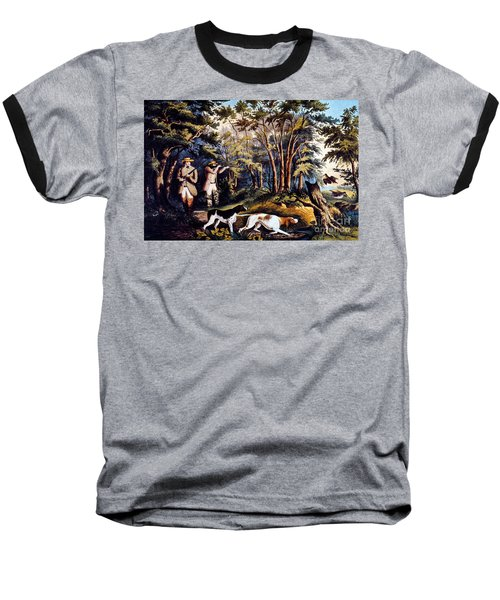 Hunting: Woodcock, 1852 Baseball T-Shirt by Granger