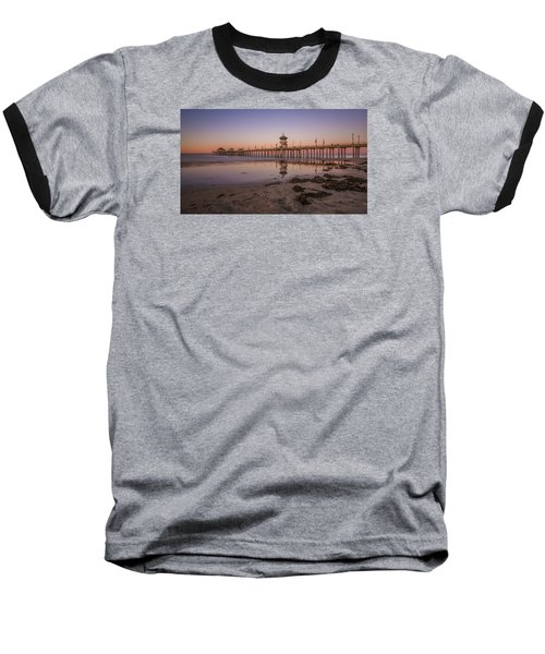 Baseball T-Shirt featuring the photograph Huntington Beach Pier by Sean Foster