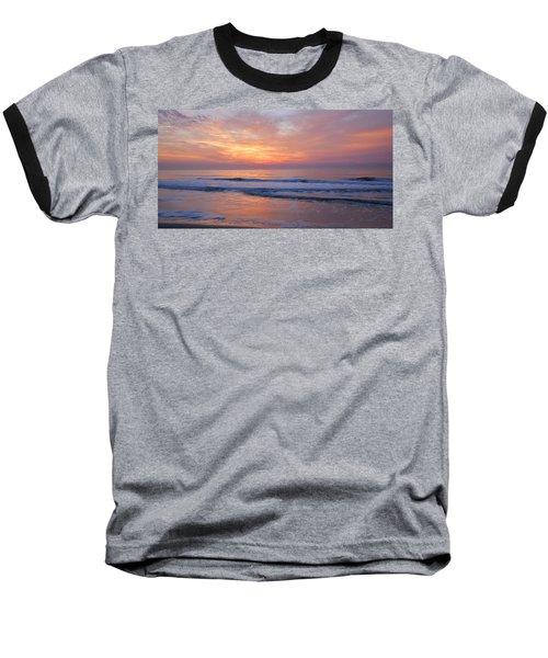 Huntington Beach Sunrise, Nc Baseball T-Shirt by Alan Lenk