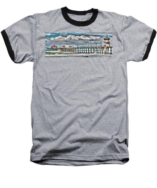 Huntington Beach Winter 2017 Baseball T-Shirt by Jim Carrell