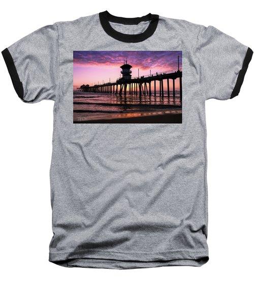 Huntington Pier At Sunset 2 Baseball T-Shirt